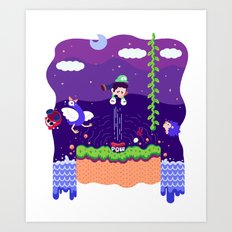 Tiny Worlds - Super Mario Bros. 2: Luigi Art Print