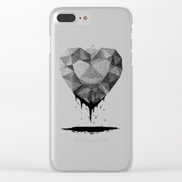 Dotted Heart Clear iPhone Case