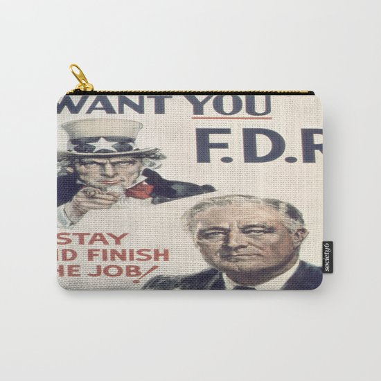 Vintage poster - I Want You FDR by mosfunky