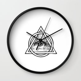 Illuminati Triangle Wall Clock
