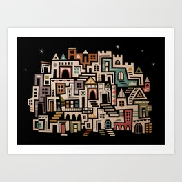 Welcome to Town! Art Print