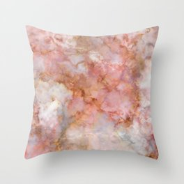 Beautiful & Dreamy Rose Gold Marble Throw Pillow