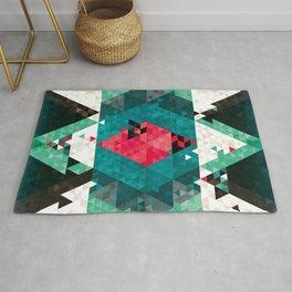 Bohemian Kilim Rhomb – abstract and geometric art for the living room Rug