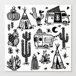 Sleeping Desert Canvas Print