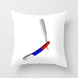 Straight Razor Throw Pillow