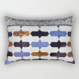 Alhambra baths. Wall details. The Alhambra Palace. Rectangular Pillow