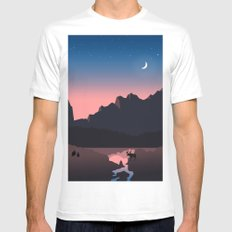 Rocky Mountain Marvelous MEDIUM White Mens Fitted Tee
