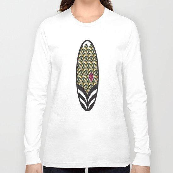 Rubine Feather Long Sleeve T-shirt