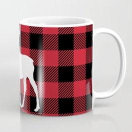 Red Buffalo Plaid Moose Coffee Mug