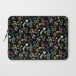Spring Botanicals Black Laptop Sleeve