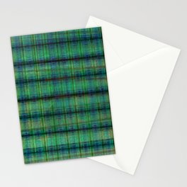 Forest Straw Plaid On Frozen Lake Stationery Cards