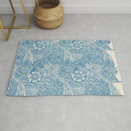 William Morris floral print Rug