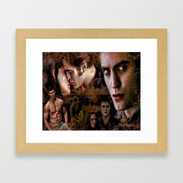 Eclipse Tribute by Martoni (Pattinson, Stewart, Lautner) Framed Art Print