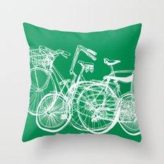 3bikes Throw Pillow