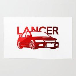 Mitsubishi Lancer Evo - classic red - Rug