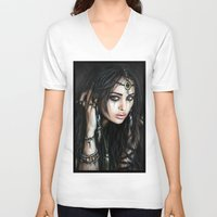 gypsy V-neck T-shirts featuring Gypsy by Justin Gedak