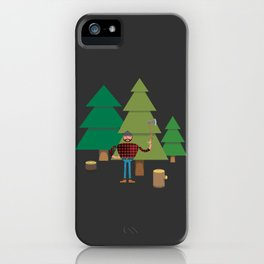 Work Proud Lumberjack iPhone Case