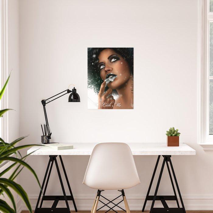 LICK ME - Black Poster