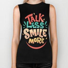Talk Less Smile More - Hamilton Biker Tank