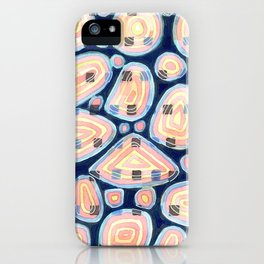 Woven Squares and Round Shapes Pattern iPhone Case