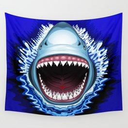Shark Jaws Attack Wall Tapestry