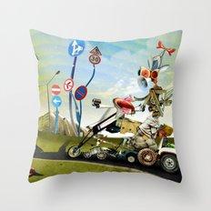 Driver Throw Pillow