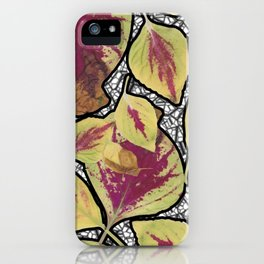 As a Driven Leaf on my Windowsill- membrane edit iPhone Case