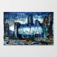 singapore Canvas Prints featuring Singapore  by sladja