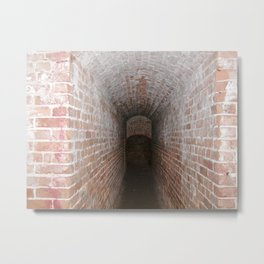 Tunnel in Fort Pickens 2 Metal Print
