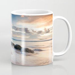 Frothy Seascape Sunset Coffee Mug