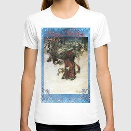 Father Christmas, Vintage Arthur Rackham Santa T-shirt