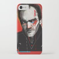 quentin tarantino iPhone & iPod Cases featuring Quentin Tarantino by Zaneta Antosik