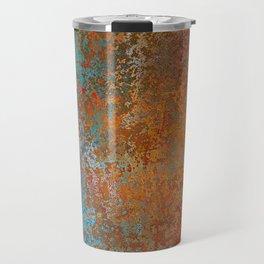 Vintage Rust, Copper and Blue Travel Mug