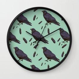 Mint Raven Wall Clock