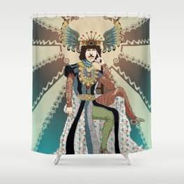 Henry Paget staring contest Shower Curtain