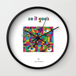 So it goes - Vonnegut Wall Clock