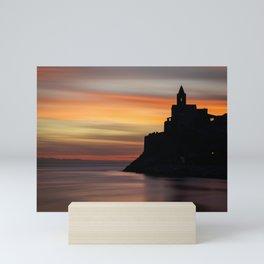 Portovenere Sunset Mini Art Print