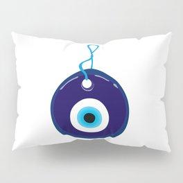 Turkish Blue Eye Bead Pillow Sham