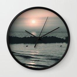 Sunset Ocean Bliss #4 #nature #art #society6 Wall Clock