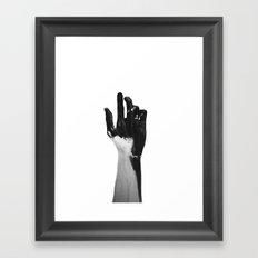 Charcoal Hands  Framed Art Print