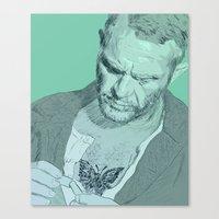 steve mcqueen Canvas Prints featuring Papillon - Steve McQueen by Tom Ralston