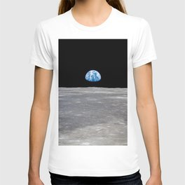 Earth Rising, Galaxy Background, Universe Large Print, Space Wall Art Decor, Deep Space Poster Decor T-shirt