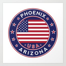 Phoenix, Arizona Art Print