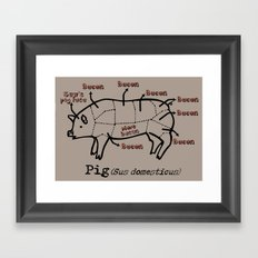 Bacon LOver Framed Art Print