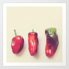 peppers photograph. hot Art Print