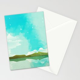 Warm Blue Sky Stationery Cards