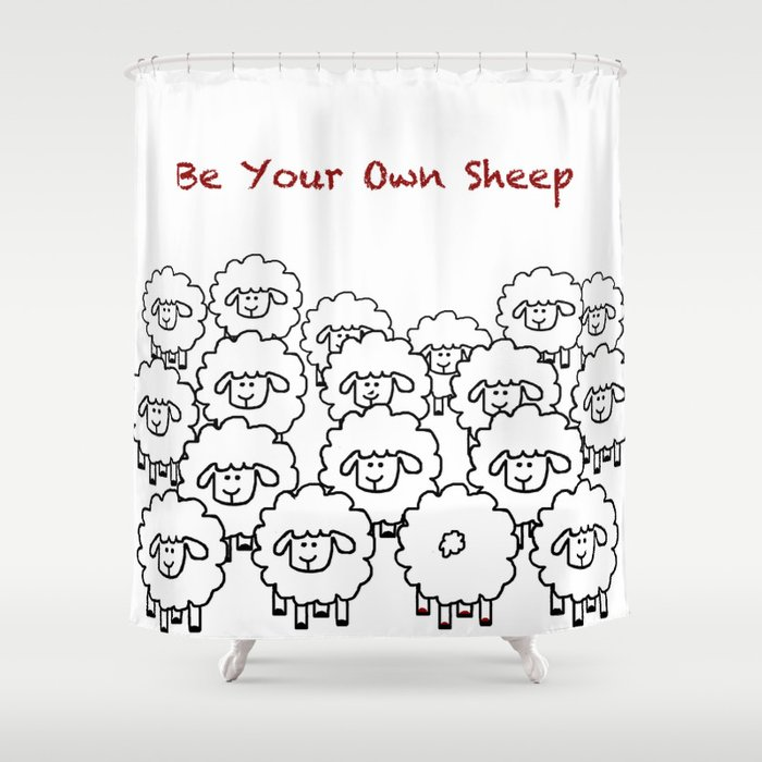 Be Your Own Sheep Shower Curtain