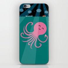 Octopus Selfie at Night iPhone & iPod Skin