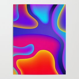 Abstract Wavy Shape Pattern Poster