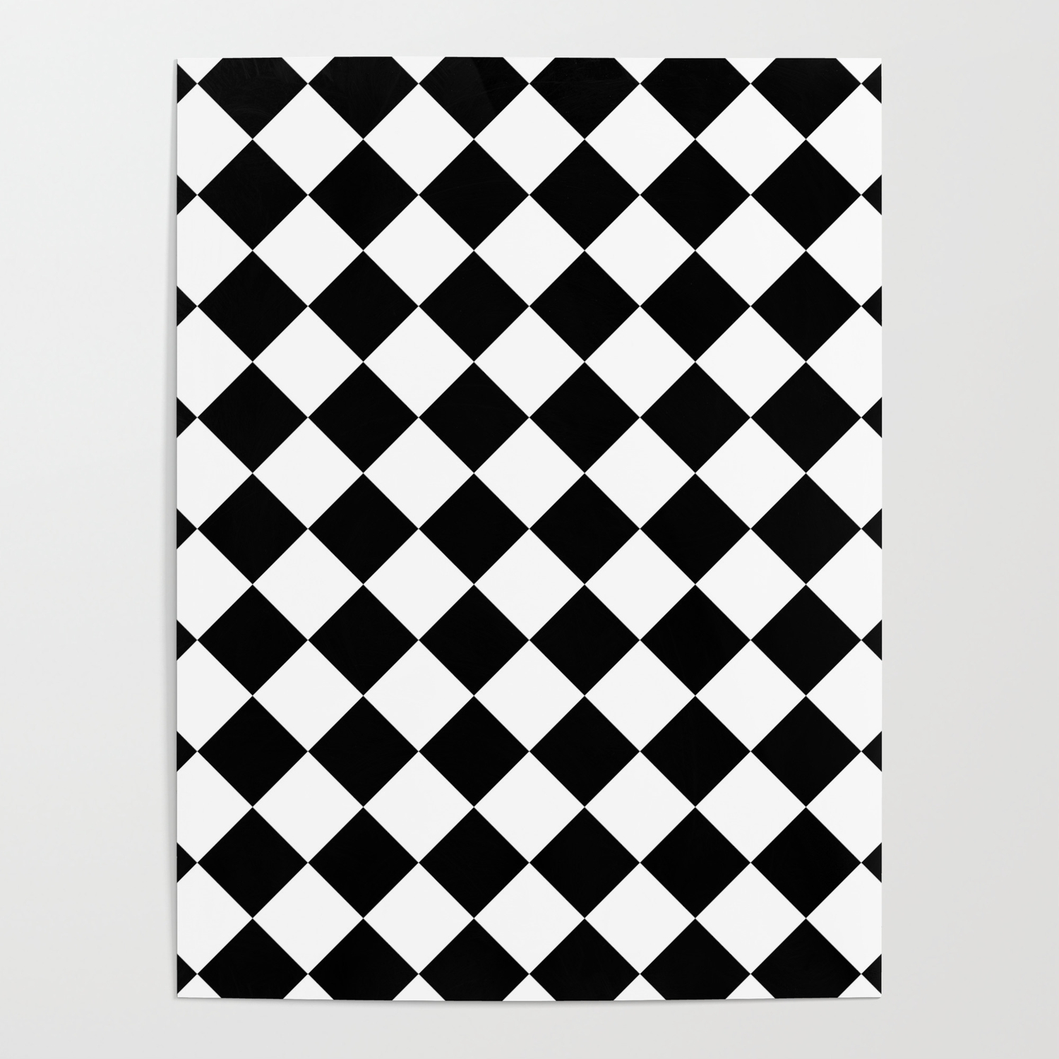 Contemporary black white gingham pattern mix and match poster